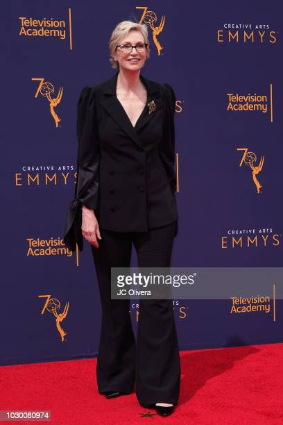 Jane Lynch attends the 2018 Creative Arts Emmy Awards at Microsoft Theater on September 9 2018 in Los Angeles California