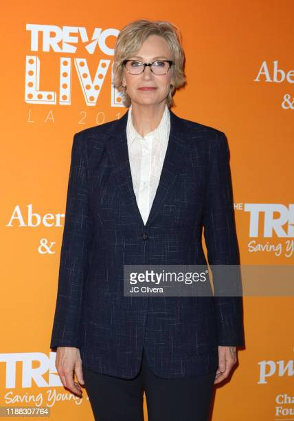 Jane Lynch attends the 2019 TrevorLive Los Angeles Gala at The Beverly Hilton Hotel on November 17 2019 in Beverly Hills California