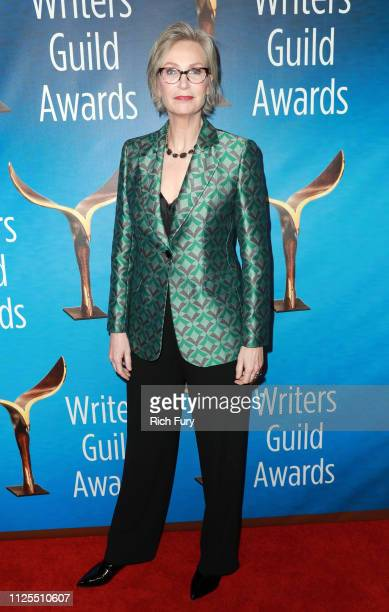 Jane Lynch attends the 2019 Writers Guild Awards LA Ceremony at The Beverly Hilton Hotel on February 17 2019 in Beverly Hills California