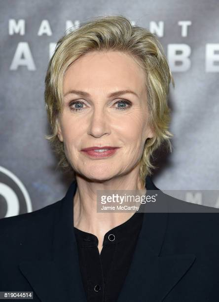 Jane Lynch attends the Discovery's 'Manhunt Unabomber' World Premiere at the Appel Room at Jazz at Lincoln Center Frederick P Rose Hall on July 19...