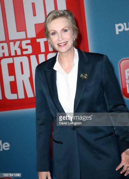 Jane Lynch attends the premiere of Disney's Ralph Breaks the Internet at El Capitan Theatre on November 5 2018 in Los Angeles California