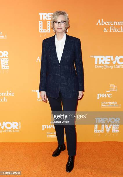 Jane Lynch attends The Trevor Project's TrevorLIVE LA 2019 at The Beverly Hilton Hotel on November 17 2019 in Beverly Hills California