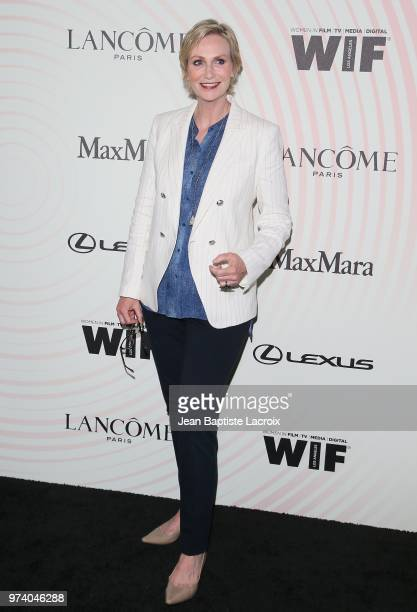 Jane Lynch attends the Women In Film 2018 Crystal Lucy Awards at The Beverly Hilton Hotel on June 13 2018 in Beverly Hills California