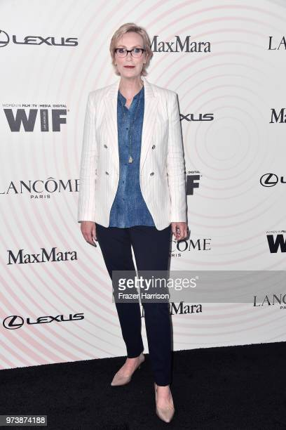 Jane Lynch attends the Women In Film 2018 Crystal Lucy Awards presented by Max Mara Lancôme and Lexus at The Beverly Hilton Hotel on June 13 2018 in...