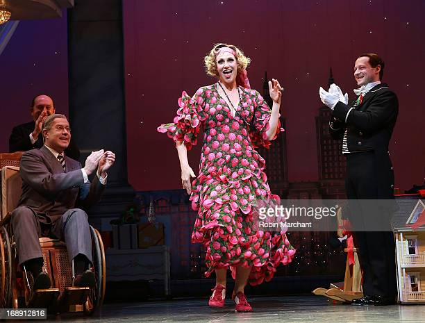 Jane Lynch during curtain call of AnnieThe Musical at The Palace Theatre on May 16 2013 in New York City