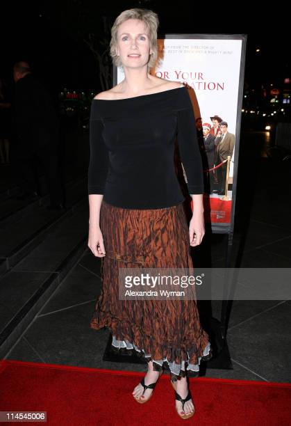 Jane Lynch during 'For Your Consideration' Los Angeles Premiere Arrivals at Director's Guild of America in Beverly Hills CA United States