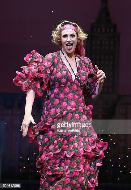 Jane Lynch during the Curtain Call for Jane Lynch debuting as Miss Hannigan in 'Annie The Musical' on Broadway at the Palace Theatre in New York City...