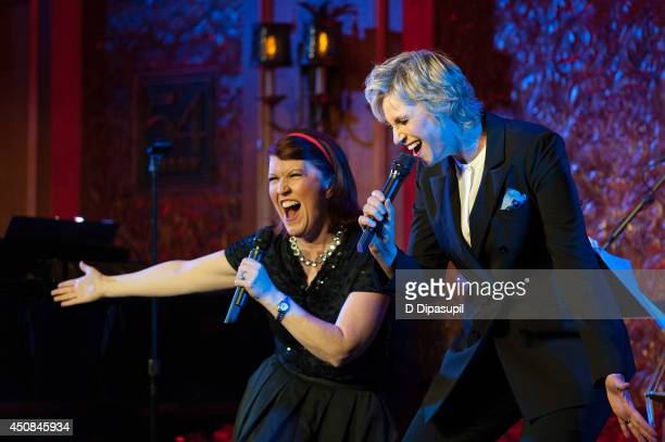 Jane Lynch is joined by Kate Flannery, for her solo concert debut at 54 Below on June 18, 2014 in New York City.