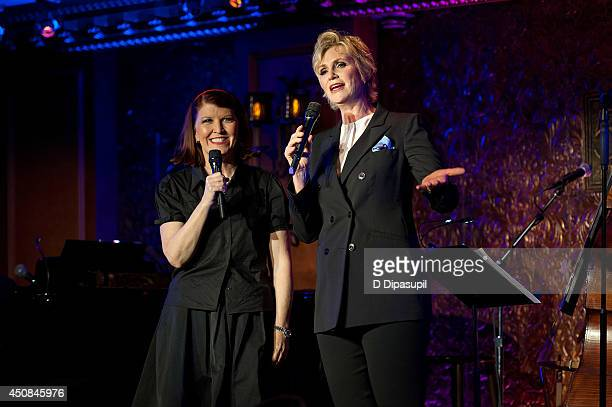 Jane Lynch is joined by Kate Flannery for her solo concert debut at 54 Below on June 18 2014 in New York City