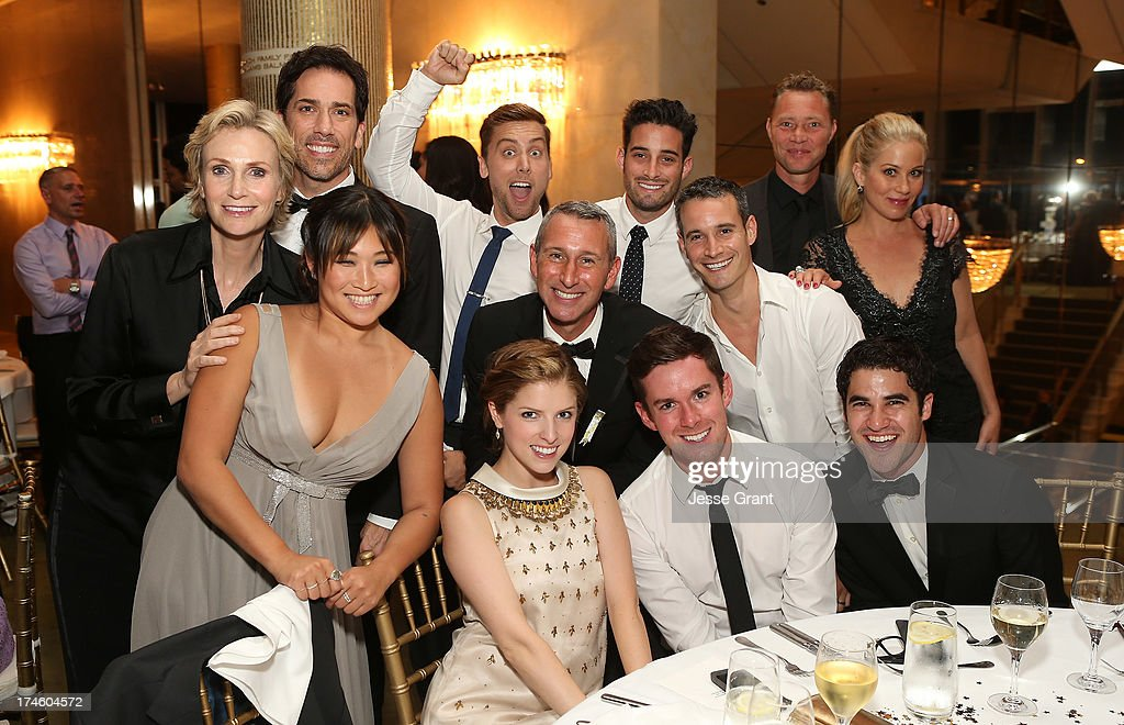 Jane Lynch, Jenna Ushkowitz, Lance Bass, Anna Kendrick, Adam Shankman, Martyn LeNoble, Christina Applegate, Darren Criss and guests attend the Dizzy Feet Foundation Third 'Celebration of Dance' Gala at The Music Center on July 27, 2013 in Los Angeles, California.