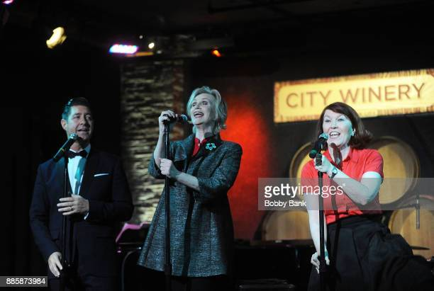 Jane Lynch Tim Davis and Kate Flannery perform at Jane Lynch's 'Swingin Little Christmas' at City Winery on December 4 2017 in New York City
