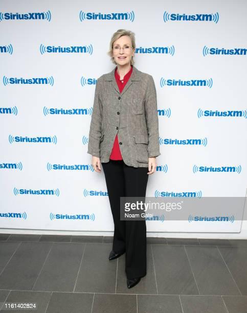 Jane Lynch visits the SiriusXM Studios on July 11, 2019 in New York City.