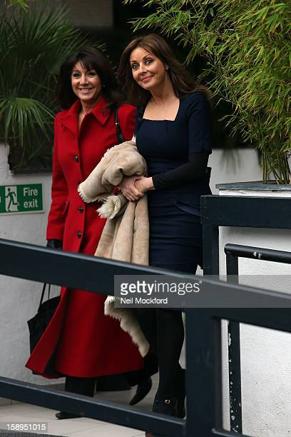Jane MacDonald and Carol Vorderman seen at the ITV Studios on January 4 2013 in London England
