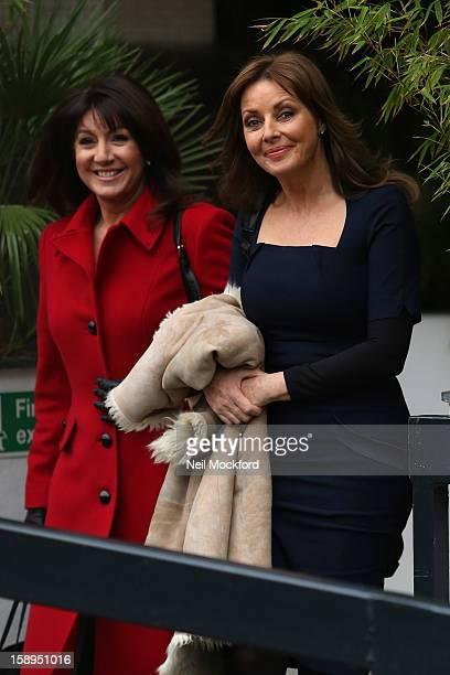 Jane MacDonald and Carol Vorderman seen at the ITV Studios on January 4, 2013 in London, England.