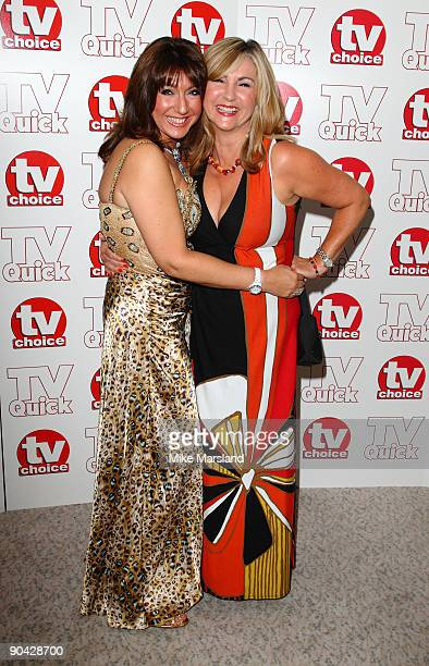 Jane MacDonald and Lesley Garrett attend the TV Quick Tv Choice Awards at The Dorchester on September 7 2009 in London England
