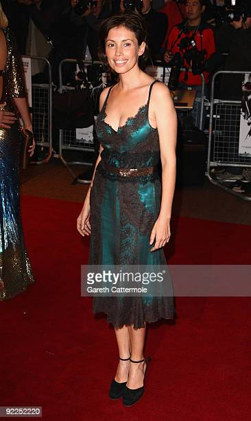 Jane March arrives at the Dead Man Running UK Film Premiere at Odeon West End on October 22 2009 in London England
