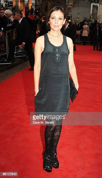 Jane March arrives at the World premiere of 'Clash Of The Titans' at the Empire Leicester Square on March 29 2010 in London England