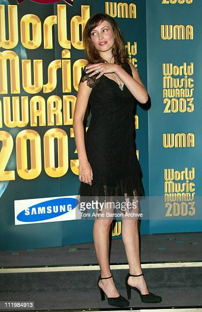 Jane March during 2003 Monte Carlo World Music Awards - Press Room at Monte Carlo Sporting Club in Monte Carlo, Monaco.