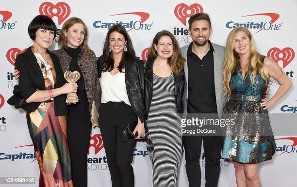 Jane Marie MacKenzie Kassab Anna Sullivan Crystal Miller Kyle Miller and Julia Kaplan arrive at the iHeartRadio Podcast Awards Presented By Capital...