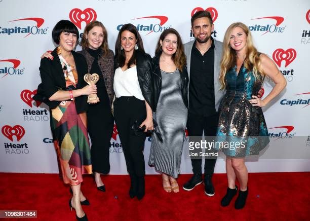 Jane Marie MacKenzie Kassab Anna Sullivan Crystal Miller Kyle Miller and Julia Kaplan arrive at the 2019 iHeartRadio Podcast Awards Presented by...