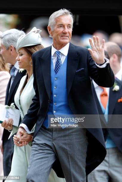 Jane Matthews and David Matthews attend the wedding of Pippa Middleton and James Matthews at St Mark's Church on May 20, 2017 in Englefield Green,...