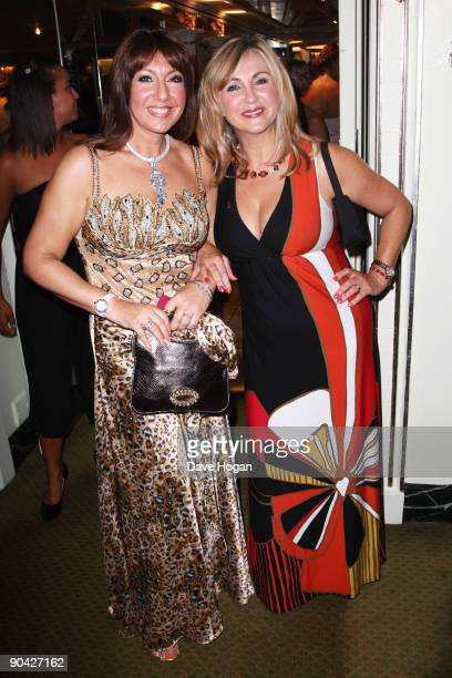Jane McDonald and Lesley Garrett attend the TV Quick TV Choice Awards champagne reception held at The Dorchester on September 7 2009 in London England