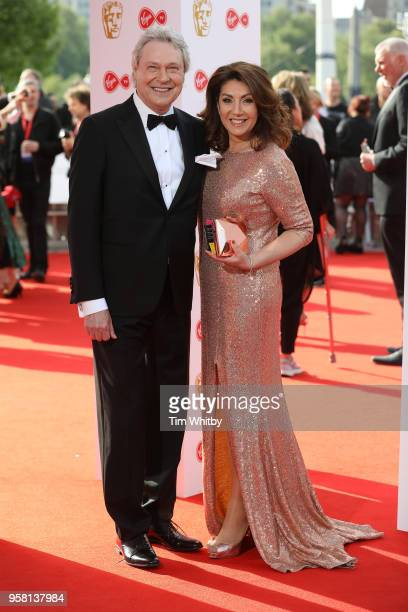 Jane McDonald and Walter Rothe attend the Virgin TV British Academy Television Awards at The Royal Festival Hall on May 13 2018 in London England