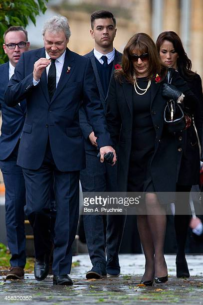 Jane McDonald attends the funeral of Lynda Bellingham on November 3, 2014 in Crewkerne, England.