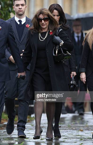 Jane McDonald attends the funeral of Lynda Bellingham on November 3 2014 in Crewkerne England
