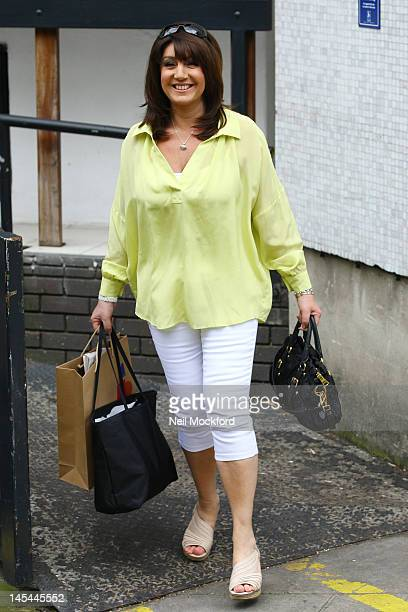 Jane McDonald seen at the ITV Studios on May 30 2012 in London England