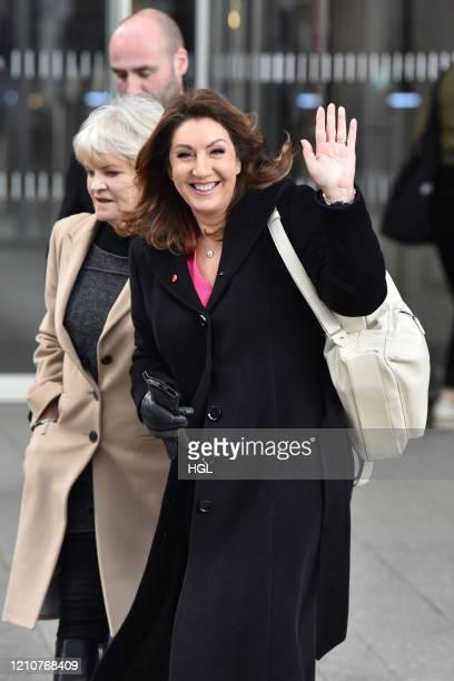 Jane McDonald seen leaving Virgin Radio on March 06, 2020 in London, England.