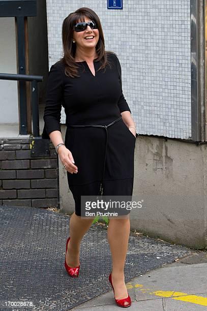 Jane McDonald sighted departing ITV studios on June 6 2013 in London England