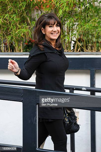 Jane McDonald sighted departing ITV Studios on October 4 2012 in London England