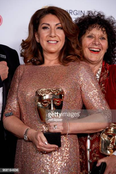 Jane McDonald winner of the BAFTA Fellowship poses in the press room at the Virgin TV British Academy Television Awards at The Royal Festival Hall on...