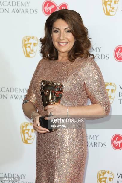 Jane McDonald, winner of the BAFTA Fellowship poses in the press room at the Virgin TV British Academy Television Awards at The Royal Festival Hall...
