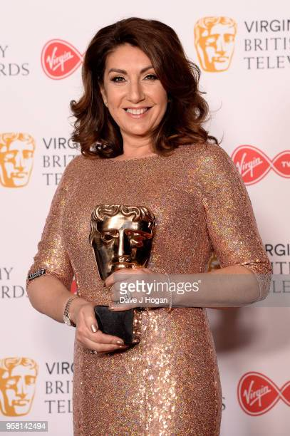 Jane McDonald with the Features award for 'Cruising With Jane McDonald', poses in the press room at the Virgin TV British Academy Television Awards...