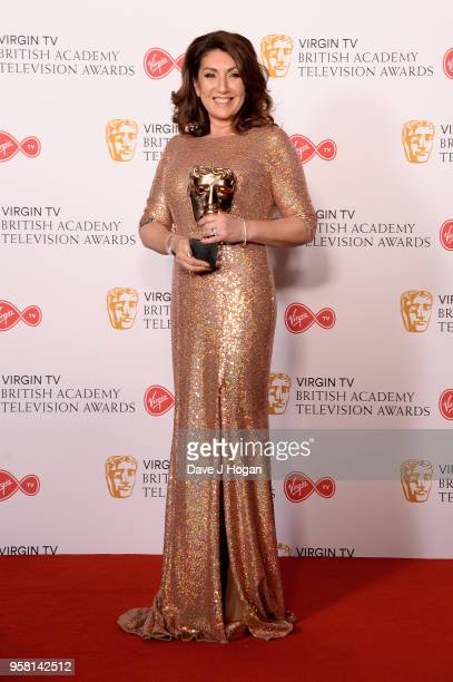 Jane McDonald with the Features award for 'Cruising With Jane McDonald' poses in the press room at the Virgin TV British Academy Television Awards at...