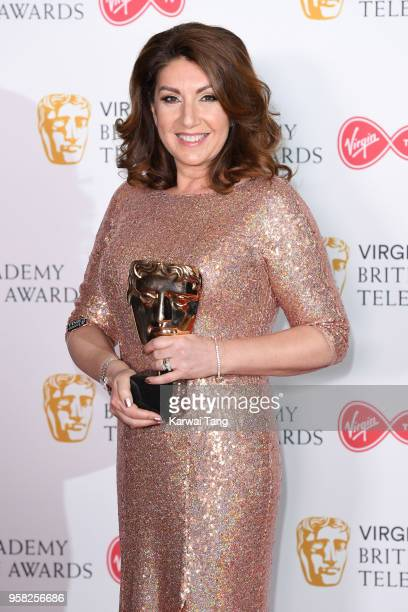Jane McDonald with the Features award for 'Cruising With Jane McDonald' poses in the press room during the Virgin TV British Academy Television...