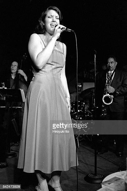 Jane Monheit performing at the Village Vanguard on July 13 2000This imageJane Monheit with from left Jay Leonhart and Frank Wess