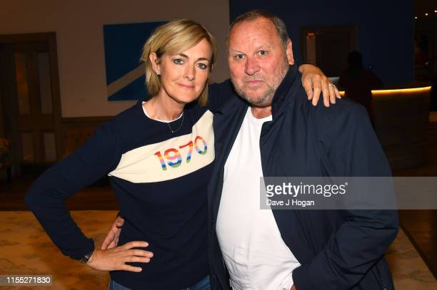Jane Moore and Gary Farrow attends a Pavarotti documentary screening at Soho Hotel on June 11 2019 in London England
