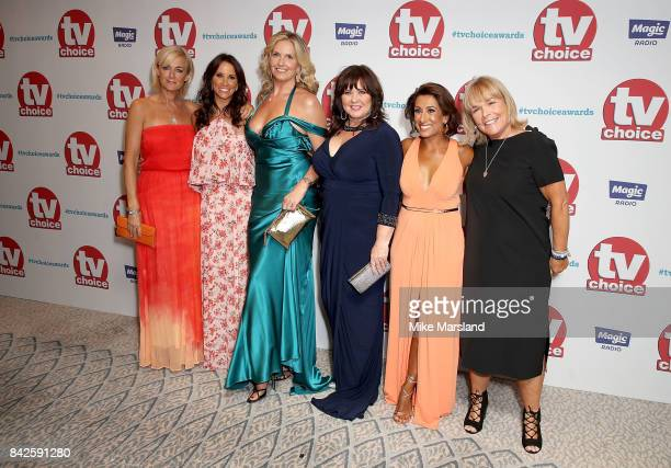 Jane Moore Andrea McLean Penny Lancaster Coleen Nolan Saira Khan and Linda Robson arrive for the TV Choice Awards at The Dorchester on September 4...