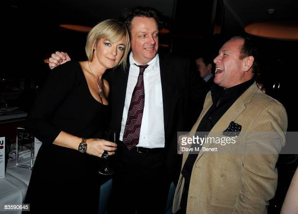 Jane Moore Richard Wallace and Gary Farrow attend the GQ 20th Anniversary Party at St Alban on November 6 2008 in London England