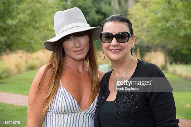 Jane Notar and Debbie Sroka attend DuJour's Jason Binn Hamptons brunch presented by EAST Miami on August 23 2015 in Bridgehampton New York