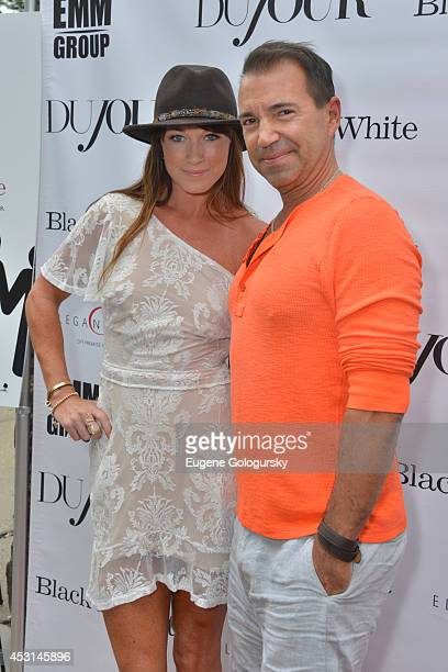Jane Notar and Richie Notar attend as DuJour Magazine's Jason Binn hosts Kevin Costner's screening of Black And White at UA Theatre on August 3 2014...