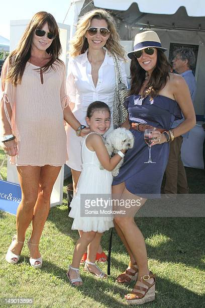 Jane Notar Guest Guest and Harlow Notar attend the 2012 Mercedes Benz Polo Challenge Opening Day at Bridgehamton Polo Club on July 21 2012 in...