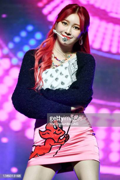 Jane of Momoland during a Momoland's the third single album 'Ready or Not' release showcase at Yes24 live hall on November 17, 2020 in Seoul, South...