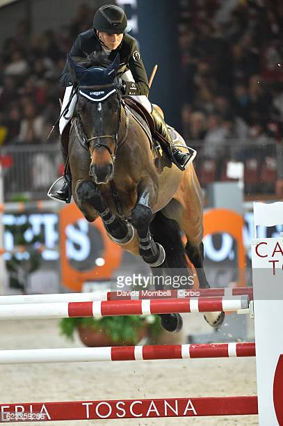 Jane of Switzerland rides Dieudonne de Guldenboom during the FEI Longines CSI5* World Cup Small Tour By BMW Jumping Verona 2016 on November 10 2016...