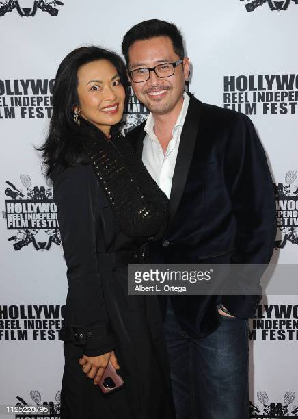 Jane Park Smith and Lawrence Chau arrive for The 2019 Hollywood Reel Independent Film Festival held at Regal LA Live Stadium 14 on February 15 2019...