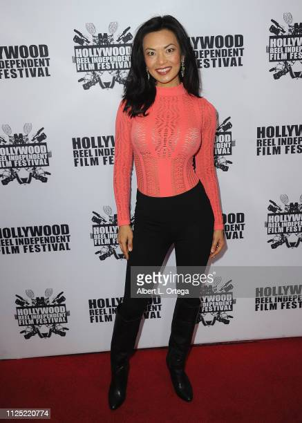 Jane Park Smith arrive for The 2019 Hollywood Reel Independent Film Festival held at Regal LA Live Stadium 14 on February 15 2019 in Los Angeles...