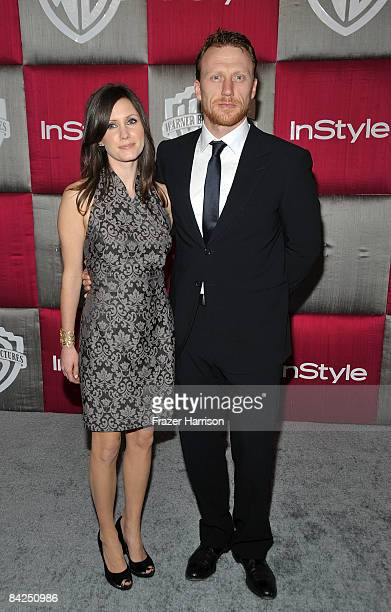 Jane Parker and actor Kevin McKidd arrive at the InStyle/Warner Bros after party for the 66th Annual Golden Globe Awards held at the Oasis Court at...